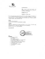 CERTIFICADO N° 60 (1) (2)